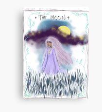 Tarot Card The Moon Goddess Canvas Print