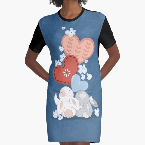 Lots of love from Alsace Graphic T-Shirt Dress