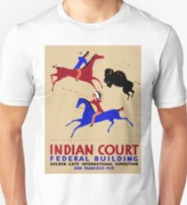 Vintage poster - Indian Court Federal Building T-Shirt