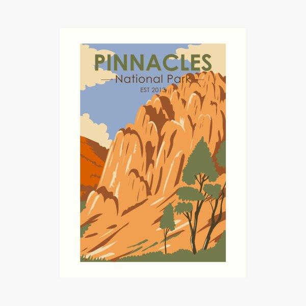 Pinnacles National Park California Vintage Art Print