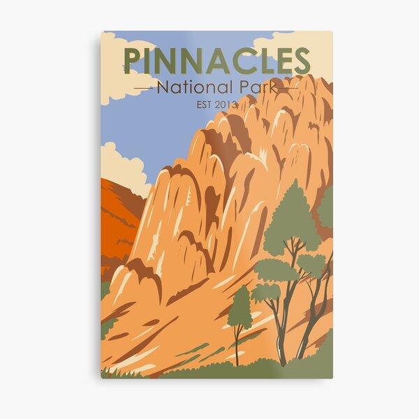 Pinnacles National Park California Vintage Metal Print