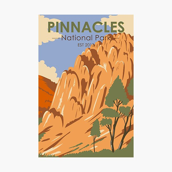 Pinnacles National Park California Vintage Photographic Print
