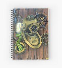 Scuba Helmet Spiral Notebook