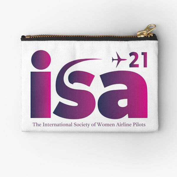 ISA+21 International Society of Women Airline Pilots  Zipper Pouch