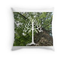 White Tree of Gondor Throw Pillow