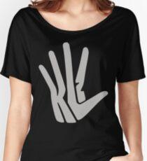 Hand Logo Gray Women's Relaxed Fit T-Shirt