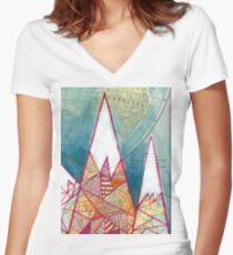 The Geometry of Geography Women's Fitted V-Neck T-Shirt