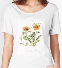 Botanical Prints Women's Relaxed Fit T-Shirt