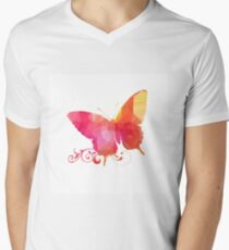 Polygonal,polygon,colorful,butterfly,red,orange,yellow,pink T-Shirt