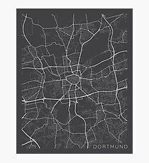 Dortmund Map, Germany - Gray Photographic Print