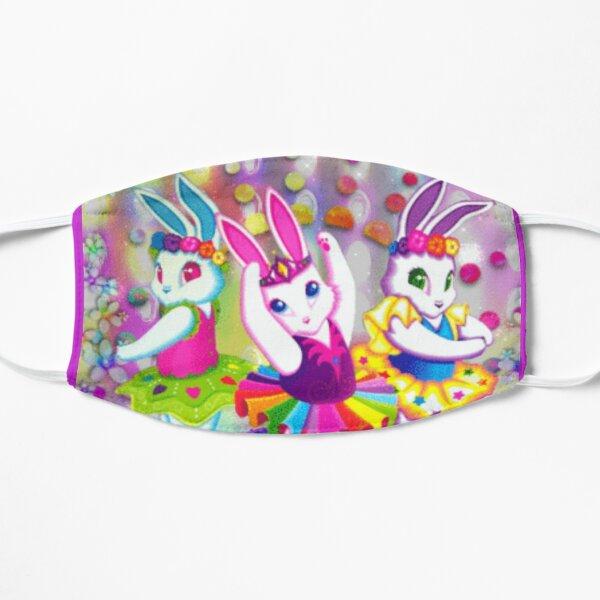 Y2k aesthetics ballerina bunnies floral  Flat Mask