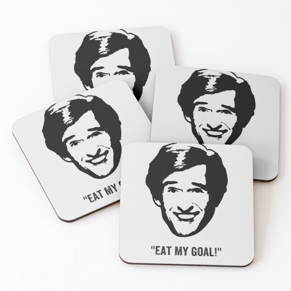 """Alan Partridge """"Eat My Goal!"""" Quote Coasters (Set of 4)"""