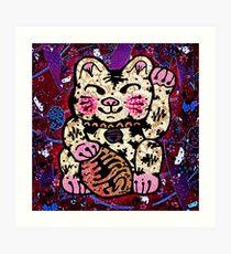 'Shiny Lucky Cat #2' Art Print