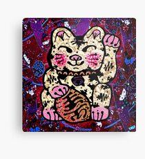 'Shiny Lucky Cat #2' Metal Print