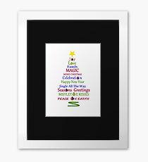 Holiday Tree Framed Print