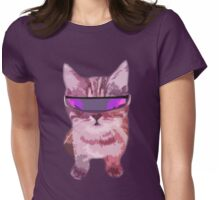 Beach Cat is ready to make waves (Girly) Womens Fitted T-Shirt