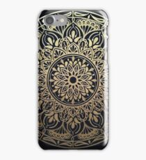 Glimmering Golden Grace Mandala iPhone Case/Skin
