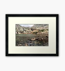 Peacock Lake, Colorado. Framed Print