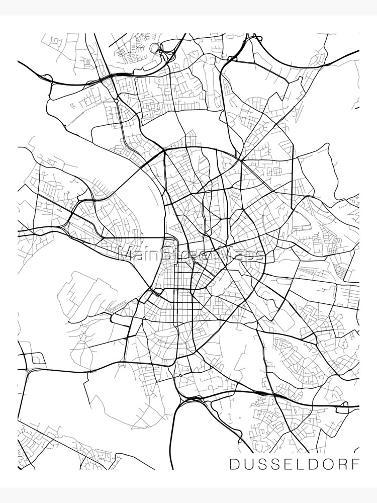 Dusseldorf Map, Germany - Black and White | Metal Print on prague czech republic on map, hannover germany map, mayence germany map, dresden germany map, blankenheim germany map, erfurt germany map, bremen germany map, geilenkirchen germany map, rome germany map, donaueschingen germany map, belfast germany map, cologne germany map, berlin germany map, split germany map, duisburg map, saxony germany map, krefeld germany map, stuttgart germany map, bonn germany map, hamburg germany map,