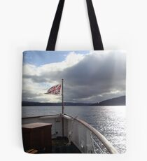 The boat that took us... Tote Bag