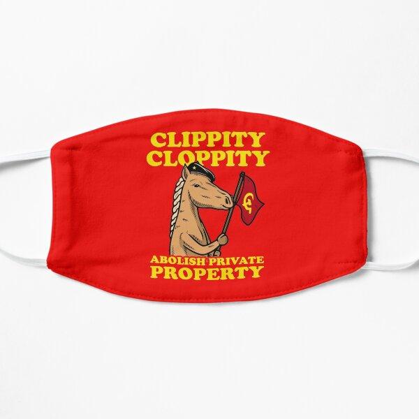 Clippity Cloppity Abolish Private Property Flat Mask