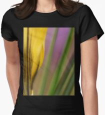 First flowers of the year in macro Womens Fitted T-Shirt