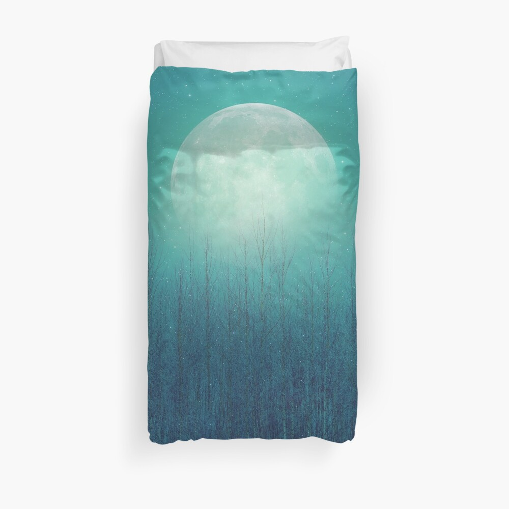 The Moon Shines Bright In Such A Night Duvet Cover
