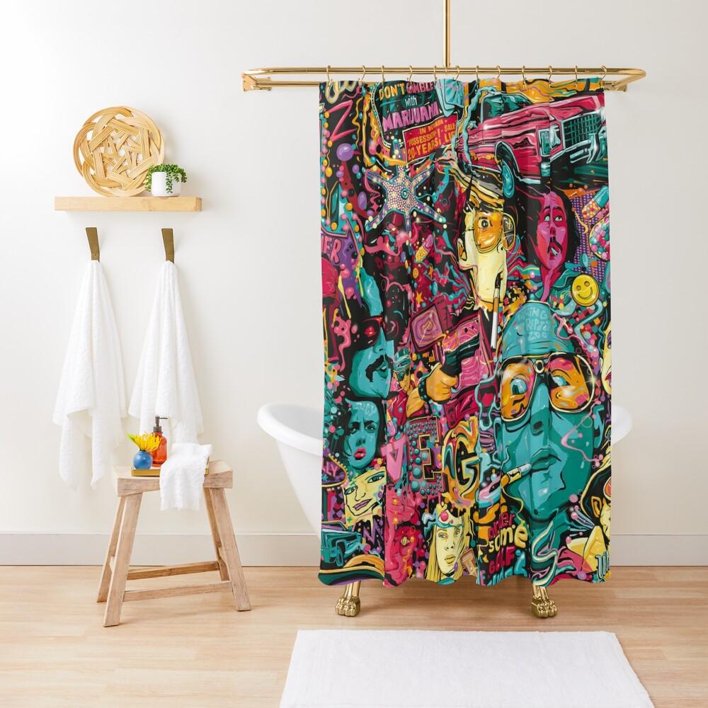 Fear and Loathing Las Vegas Art Shower Curtain