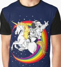Astronaut riding unicorn death metal Graphic T-Shirt