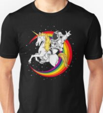 Astronaut riding unicorn death metal T-Shirt
