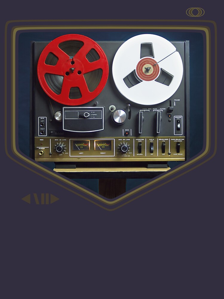 Retro music concept with an analog reel to reel tape by Maingraph