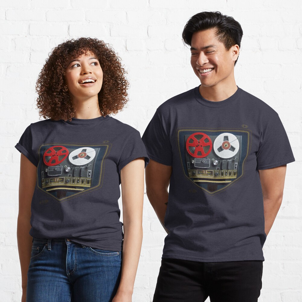 Retro music concept with an analog reel to reel tape Classic T-Shirt
