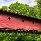 Newfield Covered Bridge - New York by Kenneth Keifer