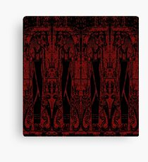 Egyptian Priests and Cobras in Black and Red III Canvas Print