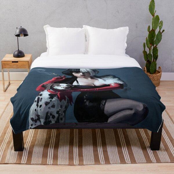 Dog An Cruella Throw Blanket