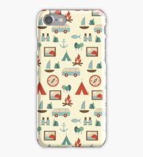 Simple abstract seamless tourist pattern iPhone Case/Skin