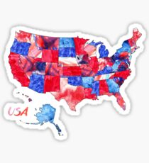 Watercolor Countries - United States of America Sticker