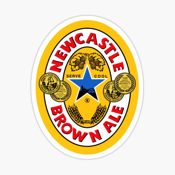 Brown Ale Newcastle  Sticker