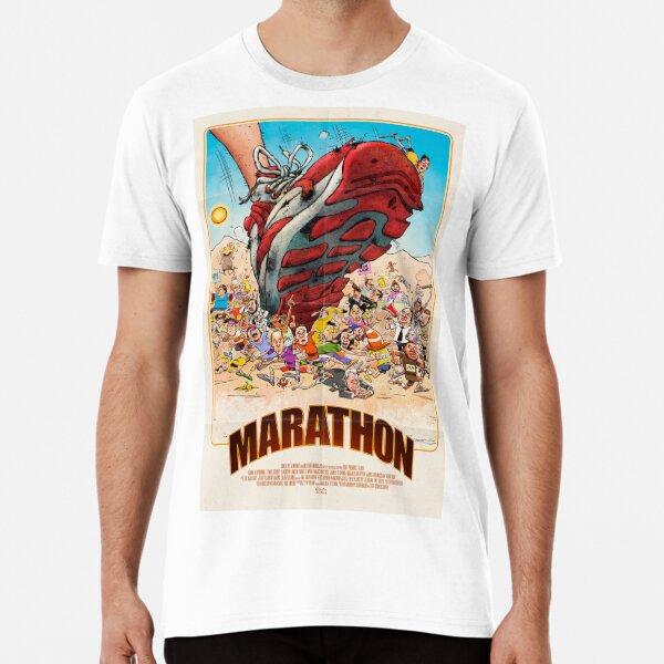 70s/80s Retro Movie Poster – Marathon Comedy Film  Premium T-Shirt