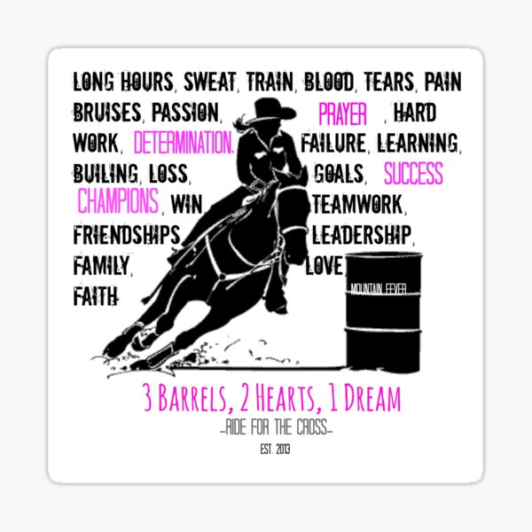 WINGS Barrel Racing Race Angel Racer Horse Rider Vinyl Decal Sticker B