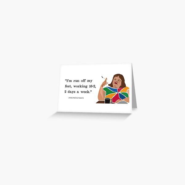 10 til 2 Lynne Postlethwaite, Magda Szubanski, Fast Forward, Australian comedy icon.  Greeting Card