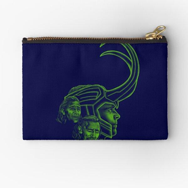 Loki - God of Mischief, Seeker of Love (Blue) Zipper Pouch