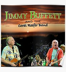 SAN03 Jimmy Buffett and the Coral Reefer Band TOUR 2016 Poster
