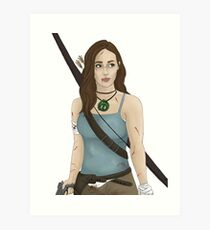 Alycia as Lara, pt1 Art Print