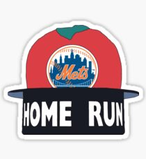 Home Run Mets Apple Sticker