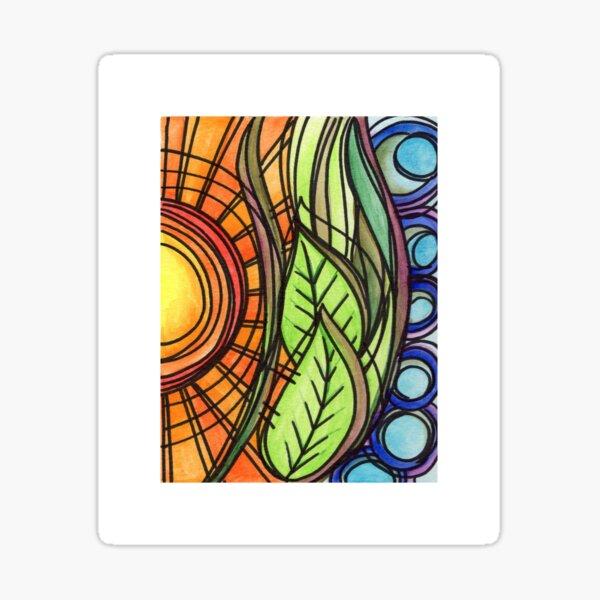 Sun and Earth Sticker