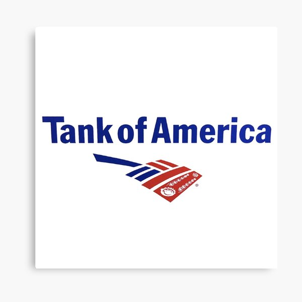 Nathan For You Tank of America Parody Logo Art Canvas Print