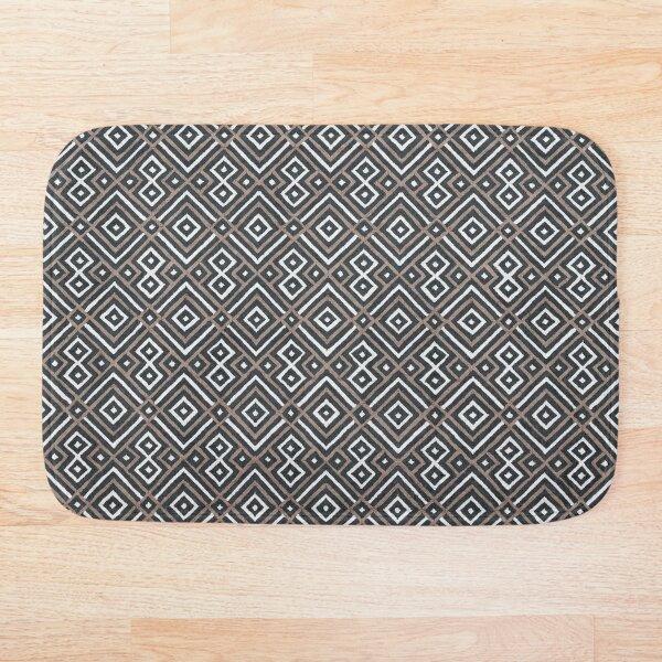 Geometric Boho Oriental North African Moroccan Style Bath Mat