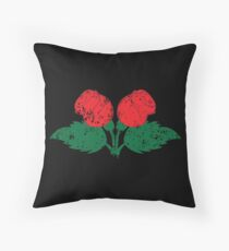 Two roses distressed Throw Pillow