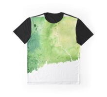 Watercolor Map of Connecticut, USA in Green - Giclee Print My Own Watercolor Painting Graphic T-Shirt